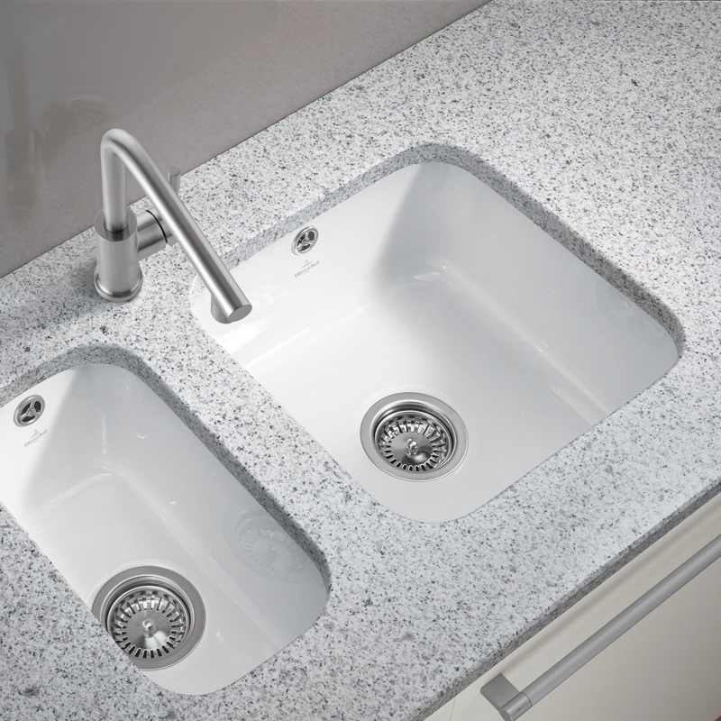 ceramic kitchen sink cleaning floors villeroy and boch cisterna 50 undermount